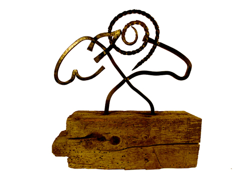 ewe-ram sculpture