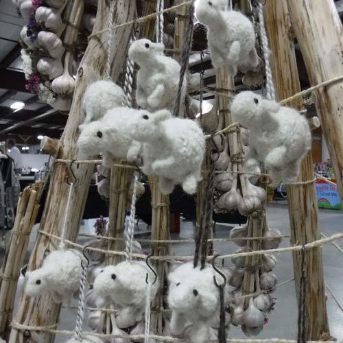felterd sheep ornaments